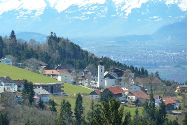 Blick auf das Zentrum der Gemeinde Eichenberg