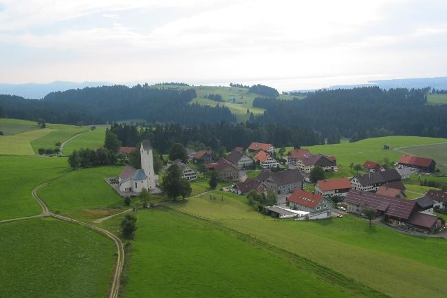 Luftaufnahme der Leiblachtalgemeinde Möggers