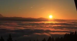 Sonnenuntergang im Leiblachtal