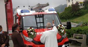 Feuerwehrfahrzeugweihe in Eichenberg 2018
