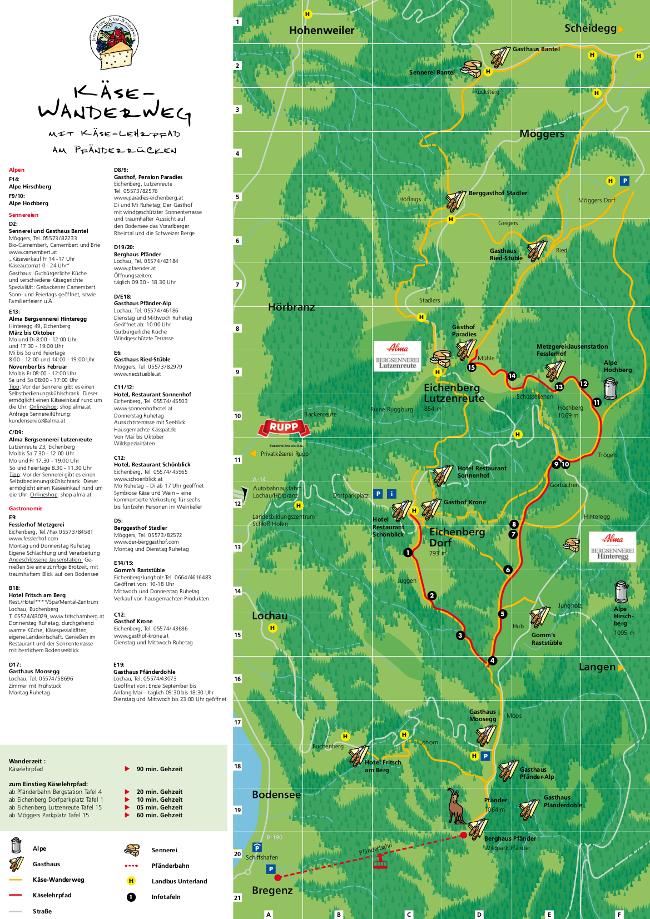 Käsweanderweg Karte