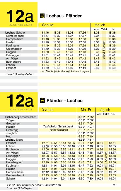 Linie 12a