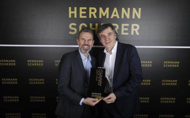 Tom Jehle (li) und Hermann Scherer (Gründer Speaker Slam)