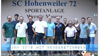 JHV SC Hohenweiler 2019