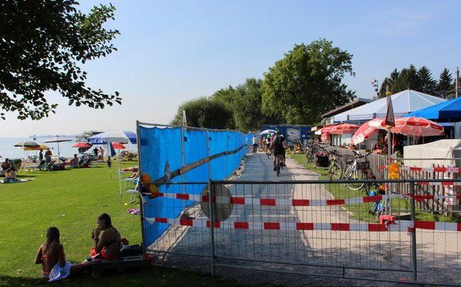 Sperren Baustelle Strandbad Lochau 2019