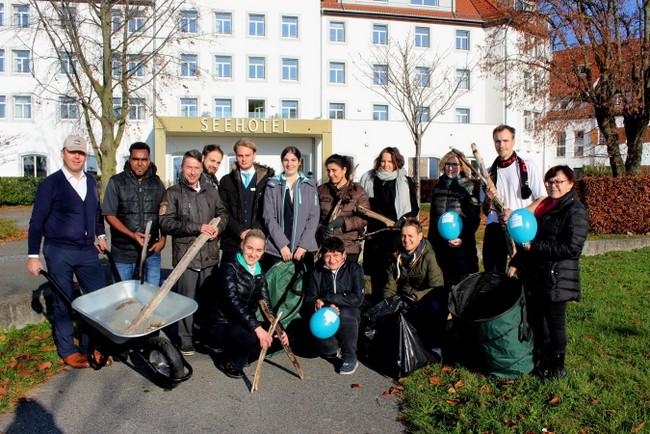 Aufräum-Aktion am Lochauer Kaiserstrand 2019