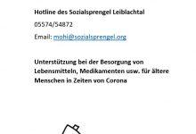 Photo of Hotline des Sozialsprengel Leiblachtal