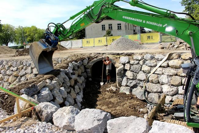 Lochau Hochwasserschutz Kugelbeerbach Baufortschritt Mai 2020