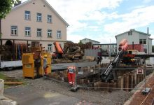 Photo of Schwere Geräte bei den Baustellen Oberlochauerbach und Kugelbeerbach im Einsatz
