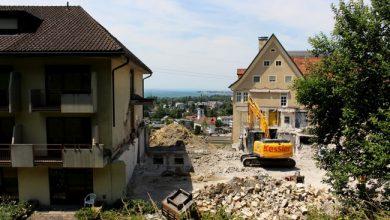 Lochau A Jesuheim ABBRUCH Haus Pfänder BF A Mitteltrakt Juli 2021