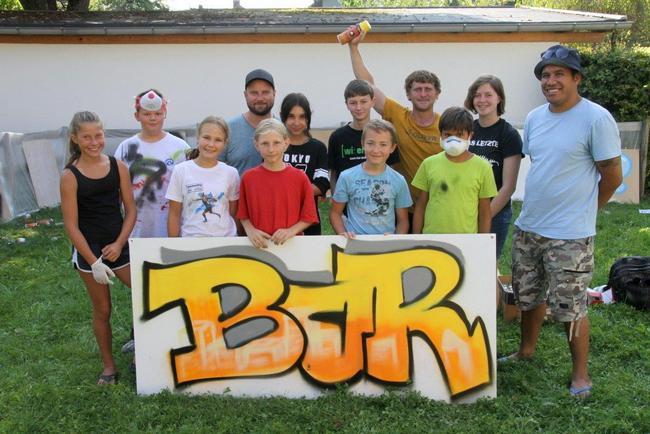 Graffiti-Workshop im Leiblachtal